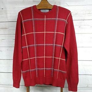 Oscar De La Renta Red Sweater Sz L Like New